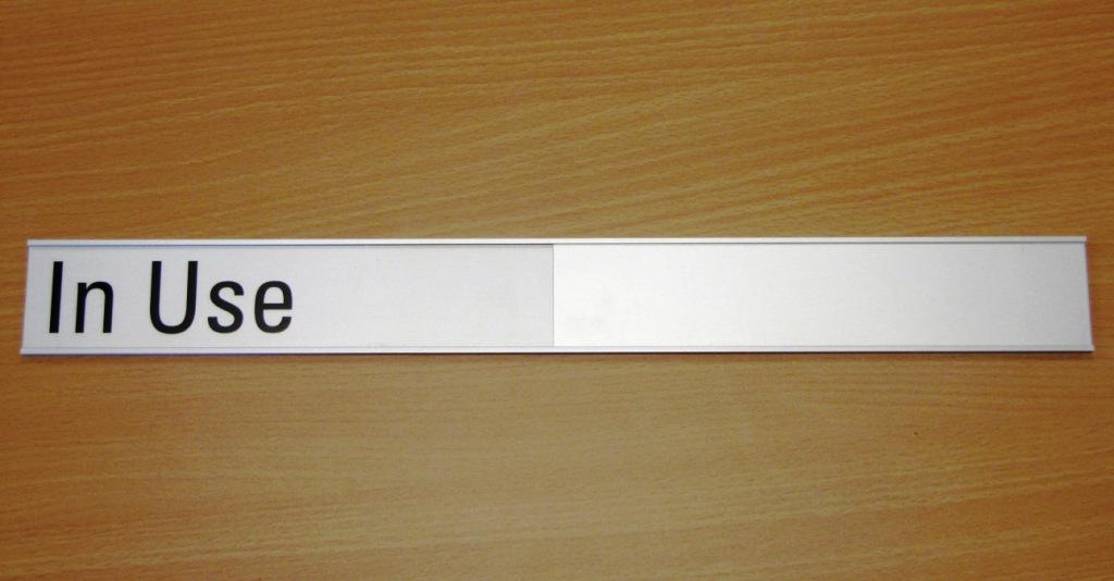 Dernier Door Plate with slider