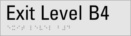 Exit level B4